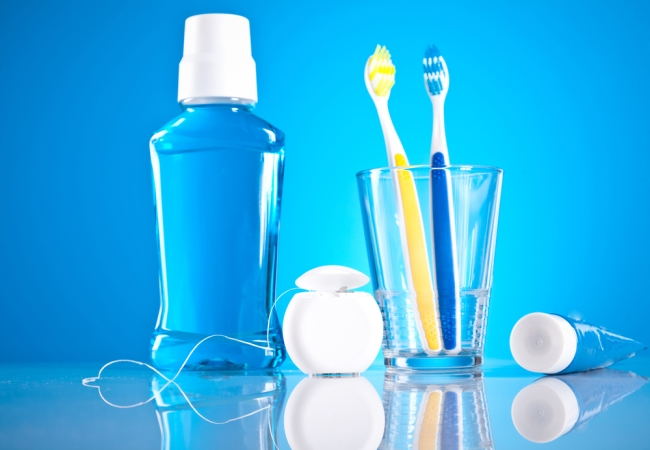 Tooth Paste And Mouthwash