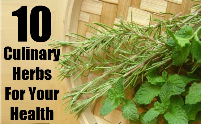 Culinary Herbs For Your Health