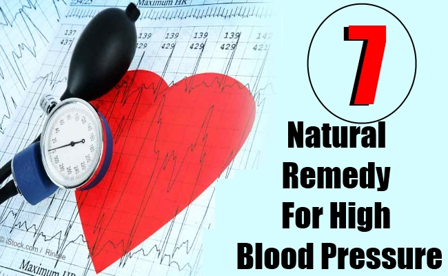 7 Natural Remedy For High Blood Pressure