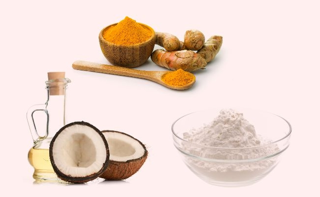 Turmeric, Baking Soda And Coconut Oil Teeth whitener