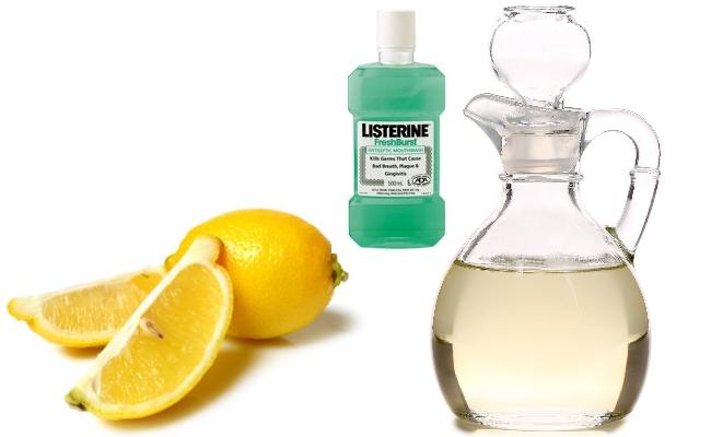 Lemon Juice, Vinegar and Listerine