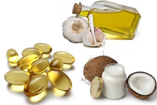 Use Coconut, Vitamin E, And Garlic Oil Mixture