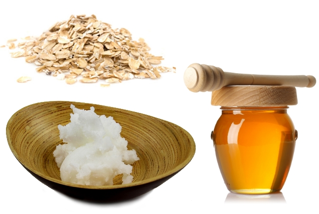 Coconut Oil, Honey And Oatmeal Pack