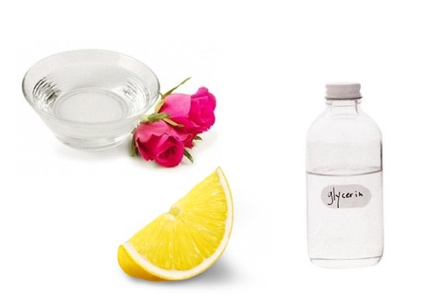 Glycerin, Rose Water & Lemon Juice Pack