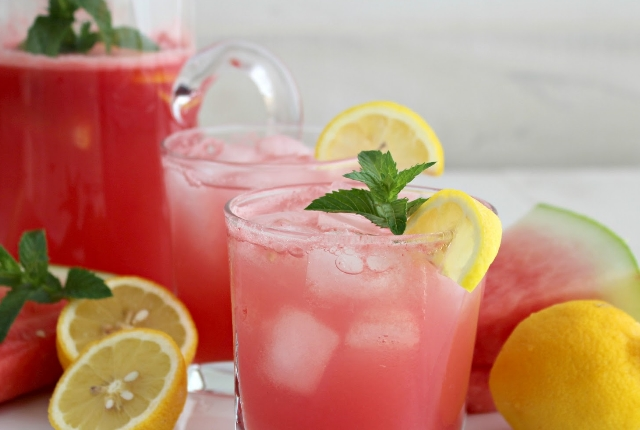 Watermelon And Lemon Juice