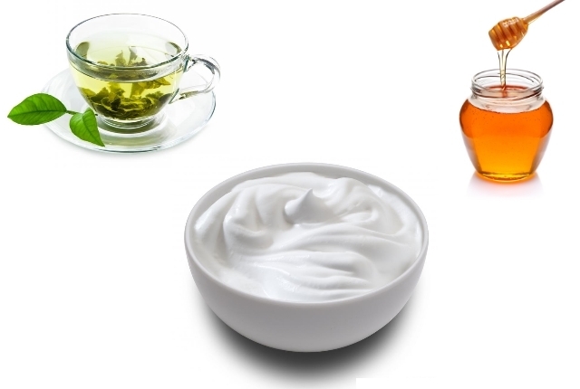 Green Tea With Honey And Yogurt