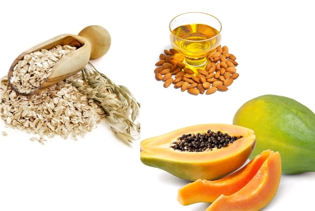 Papaya, Almond Oil And Oatmeal Face Pack