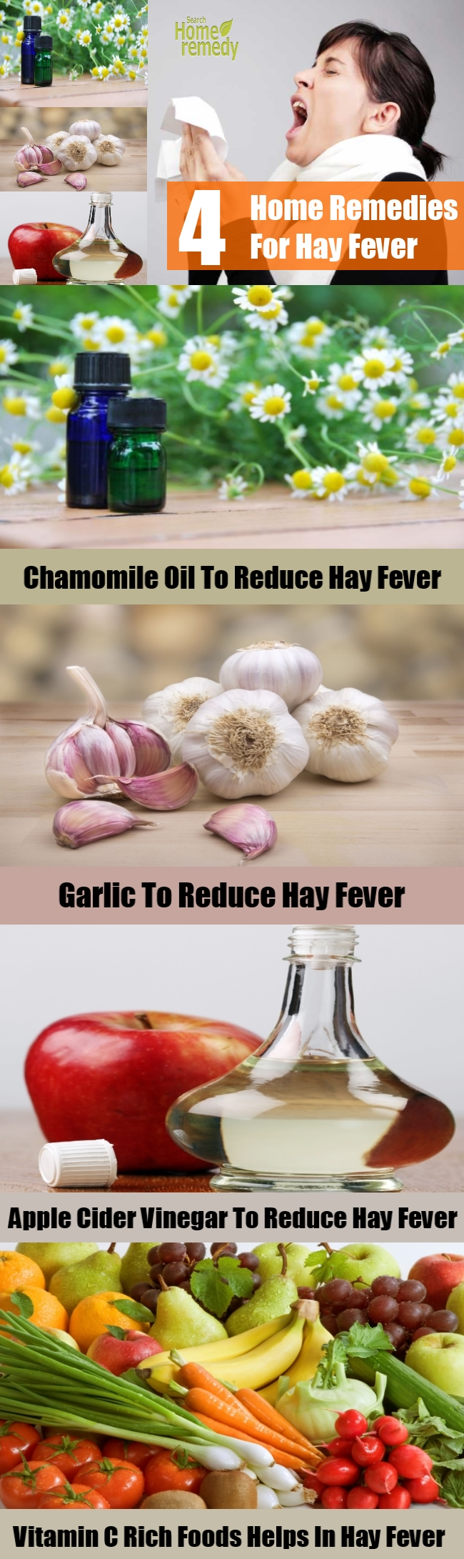 4 Home Remedies For Hay Fever