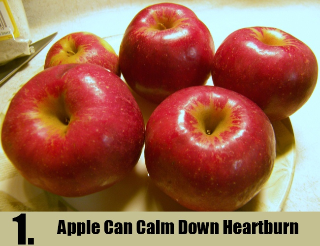 Apple Can Calm Down Heartburn