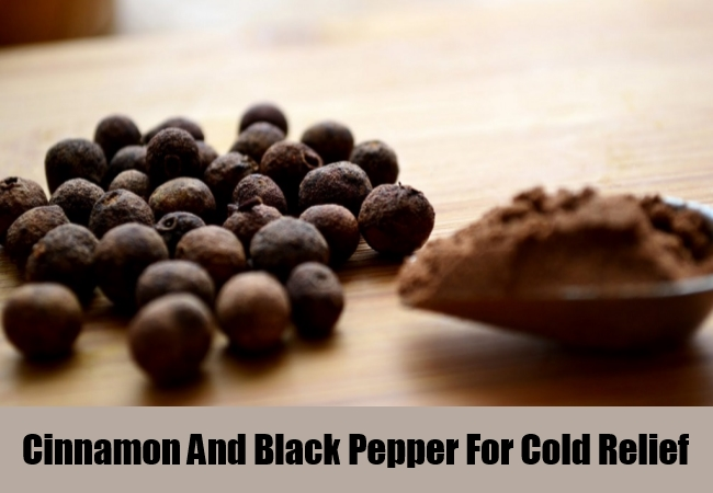 Cinnamon And Black Pepper For Cold Relief