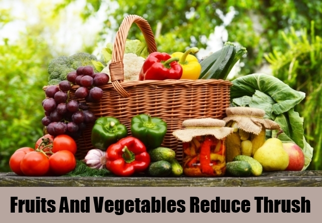 Fruits And Vegetables Reduce Thrush