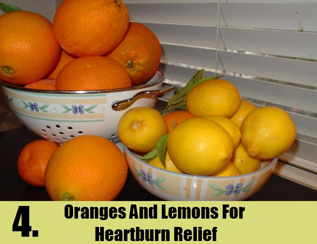 Oranges And Lemons For Heartburn Relief