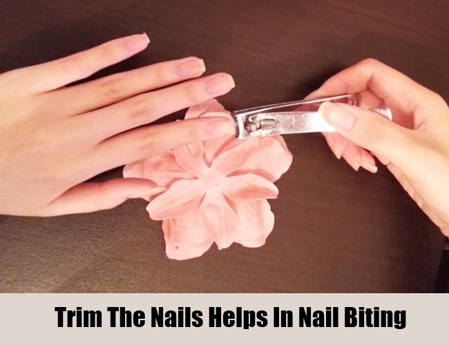 Trim The Nails Helps In Nail Biting