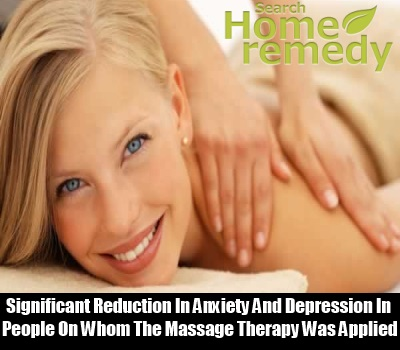 With Massage Significant Reduction In Anxiety And Depression