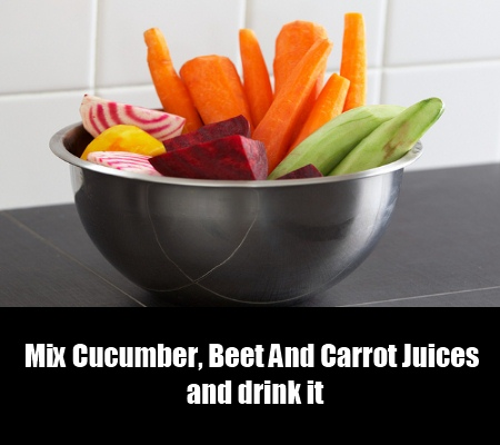 Cucumber, Beet And Carrot Juices