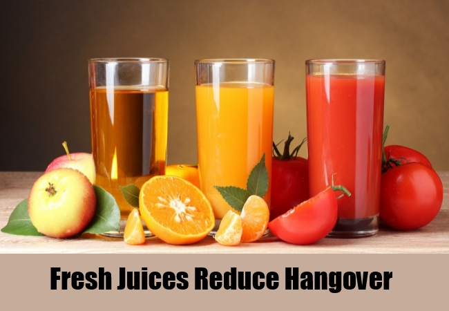 Fresh Juices Reduce Hangover