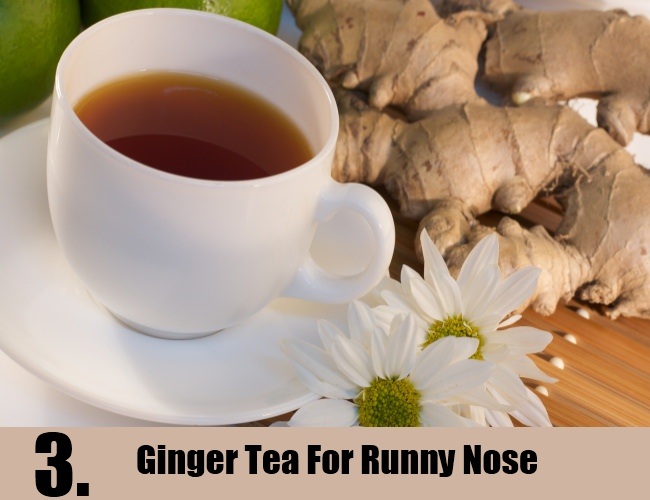 Ginger Tea For Runny Nose