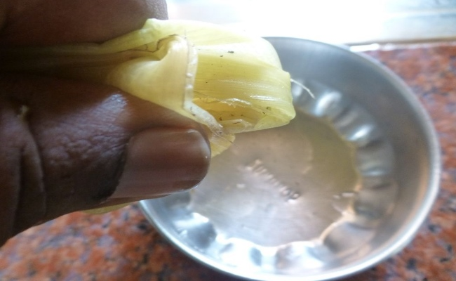 Juice Extracted From The Bark Of A Banana Tree