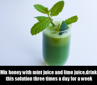 Mint With Honey And Lime Juice