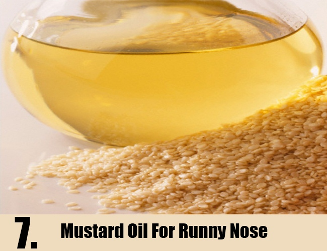 Mustard Oil For Runny Nose