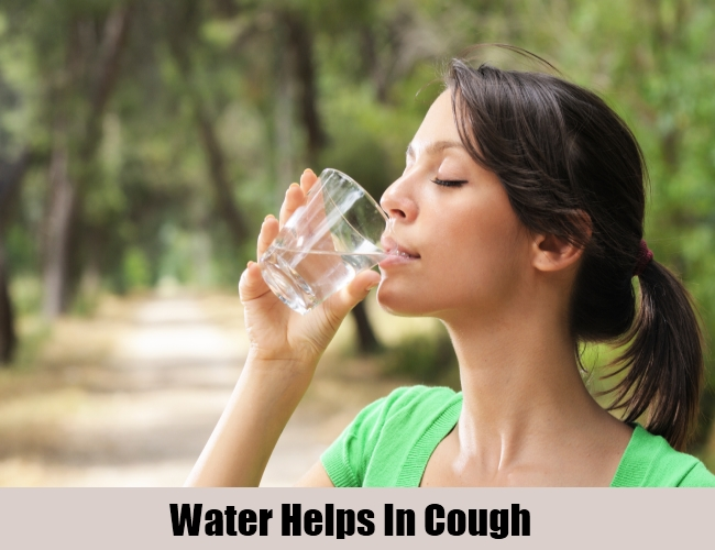 Water Helps In Cough