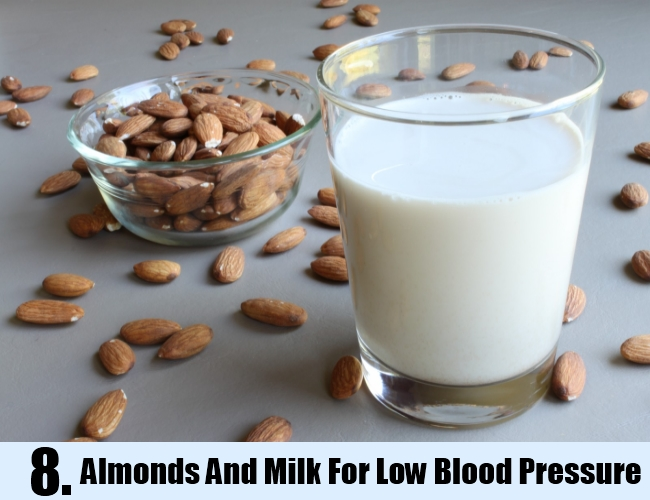 Almonds And Milk For Low Blood Pressure