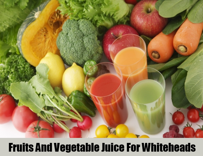 Fruits And Vegetable Juice For Whiteheads