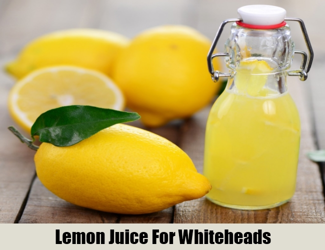 Lemon Juice For Whiteheads