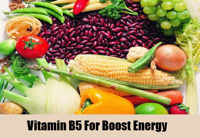 Vitamin B5 For Boost Energy