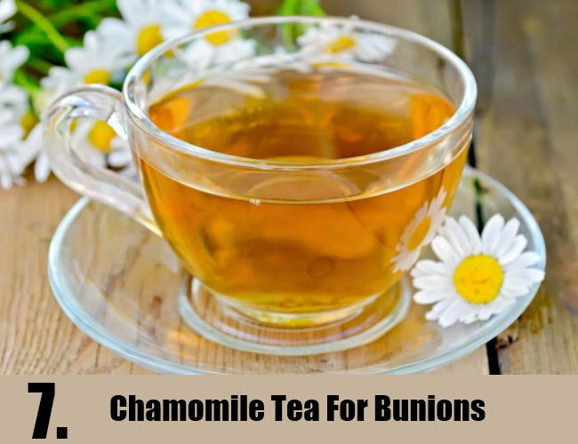 Chamomile Tea For Bunions