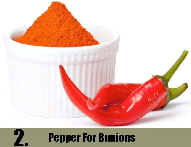 Pepper For Bunions