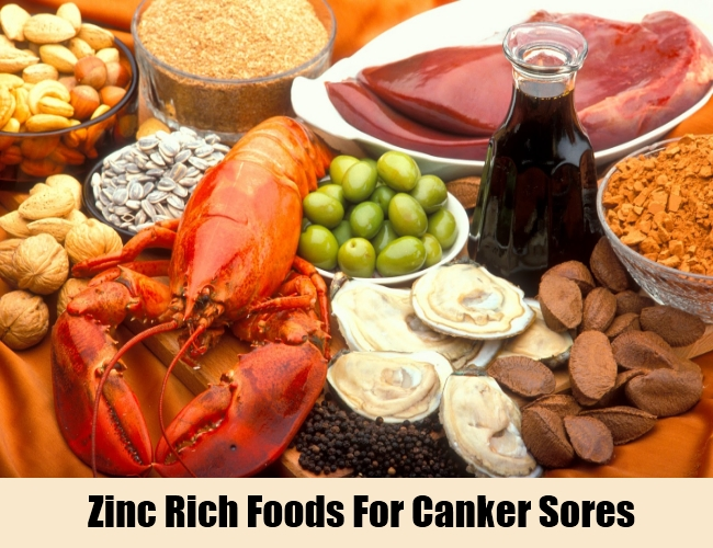 Zinc Rich Foods For Canker Sores