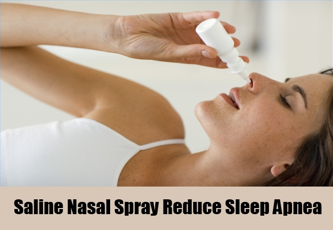 Saline Nasal Spray Reduce Sleep Apnea