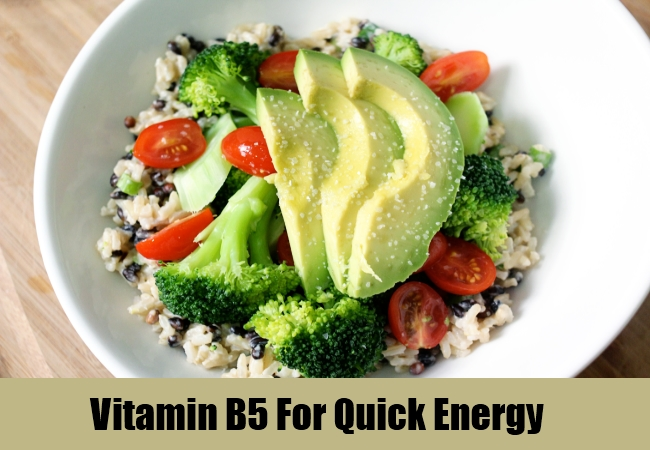 Vitamin B5 For Quick Energy