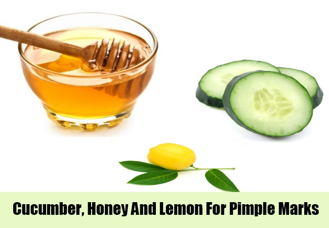 Cucumber, Honey And Lemon For Pimple Marks