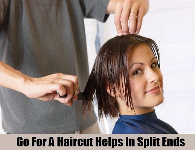 Go For A Haircut Helps In Split Ends