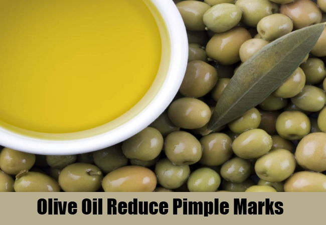 Olive Oil Reduce Pimple Marks