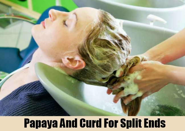 Papaya And Curd For Split Ends