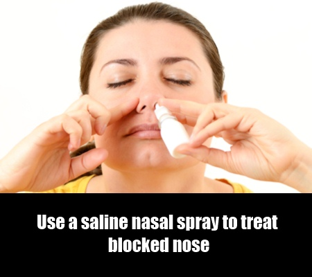Use A Saline Nasal Spray