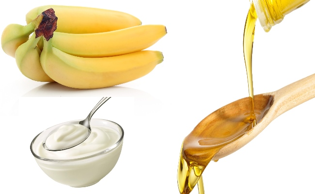 Bananas, Yogurt & Olive Oil Hair Mask