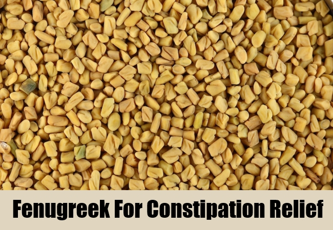Fenugreek For Constipation Relief