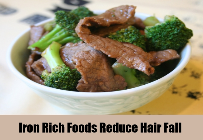 Iron Rich Foods Reduce Hair Fall
