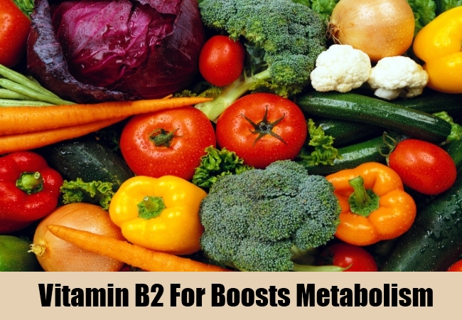 Vitamin B2 For Boosts Metabolism