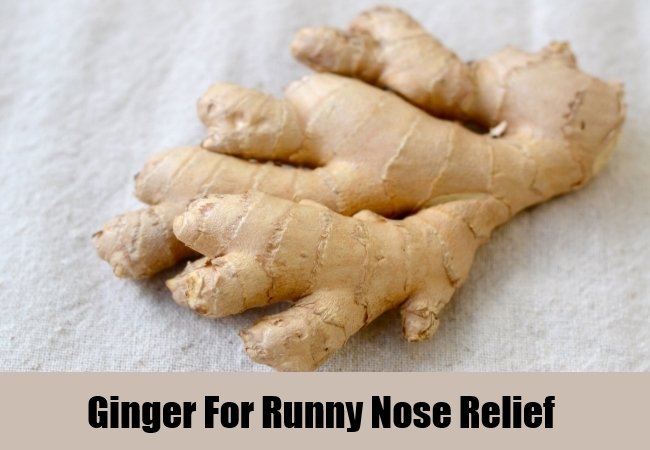 Ginger For Runny Nose Relief