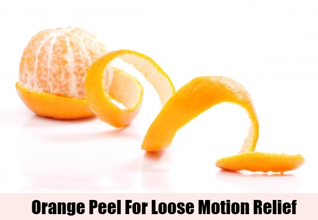 Orange Peel For Loose Motion Relief