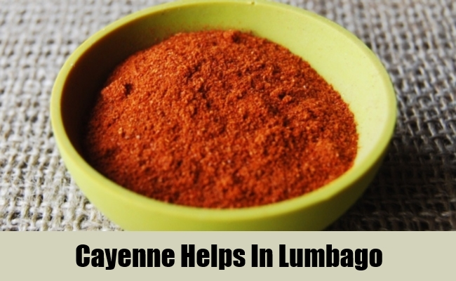 Cayenne Helps In Lumbago