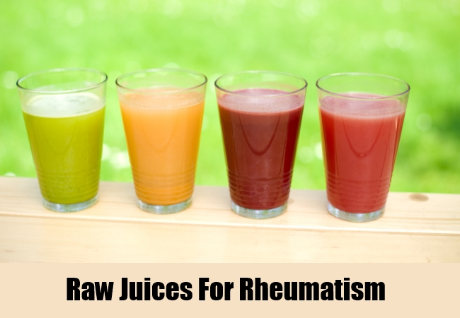 Raw Juices For Rheumatism