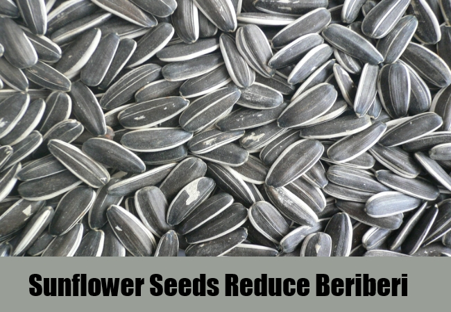 Sunflower Seeds Reduce Beriberi