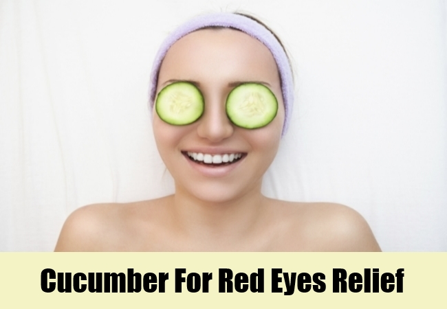 Cucumber For Red Eyes Relief