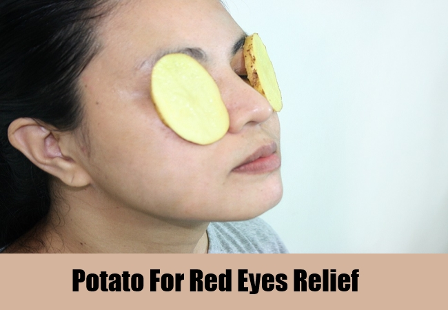 Potato For Red Eyes Relief